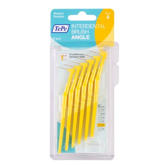 TEPE Interdental Brush Angle 0,7 мм міжзубні щіточки 6 шт