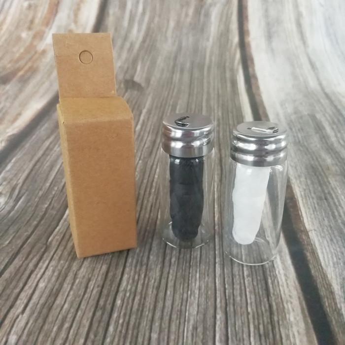 Zero waste еко зубна нитка в скляній баночці, біла 30 м