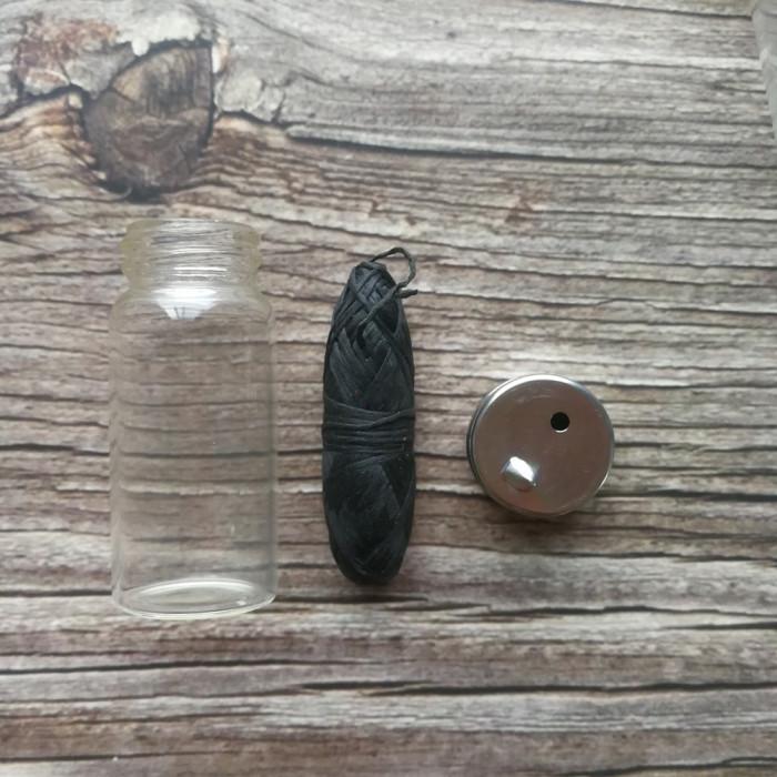 Zero waste еко зубна нитка в скляній баночці, чорна 30 м