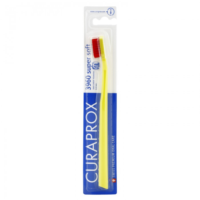 Curaprox CS 3960 Supersoft Toothbrush, yellow with red bristles